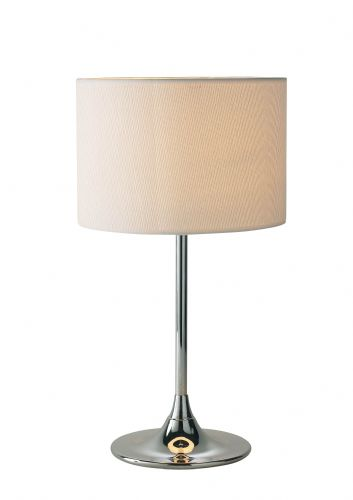 Delta Polished Chrome Table Lamp DEL4250 (Class 2 Double Insulated)